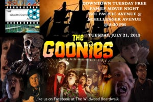 Downtown Movie Night, Wildwood The Goonies