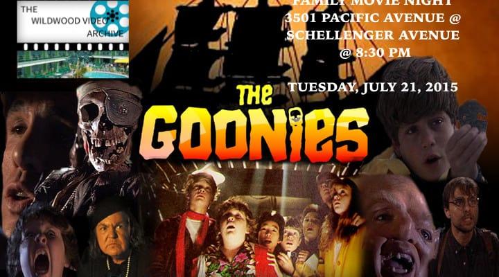 Downtown Movie Night, Wildwood The Goonies