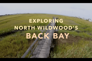 North Wildwood's Back Bay Drone