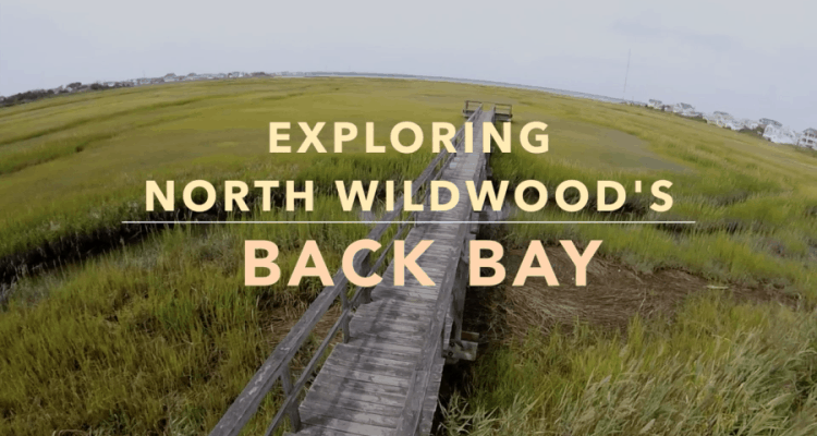 North Wildwood's Back Bay Drone