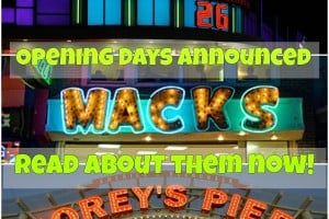Opening Days Announced 2016