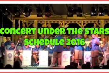 Concert Under the Stars Schedule 2016 2`