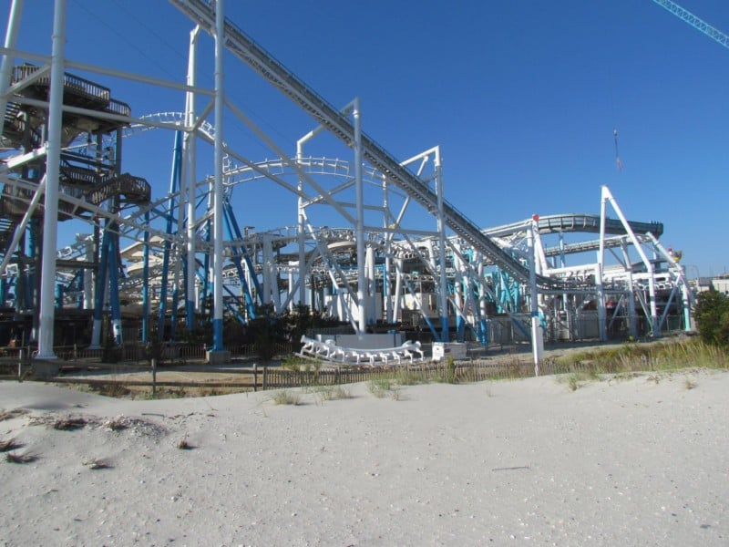 "Morey's Pier's ""Great Nor'Easter"" roller coaster"