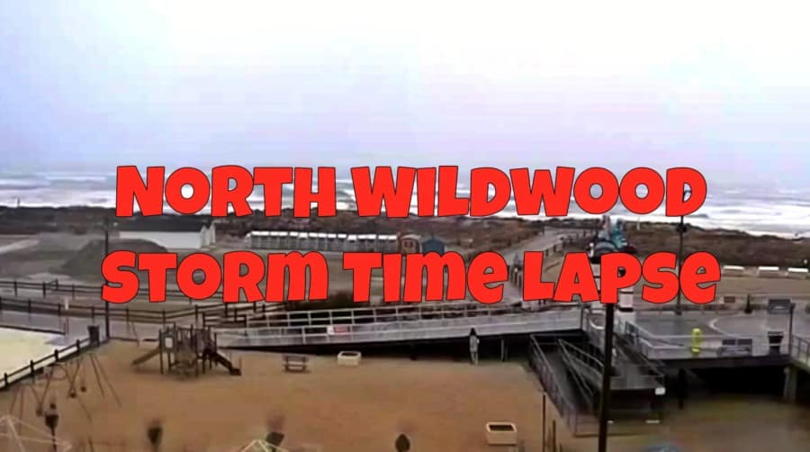North Wildwood Storm Time Lapse