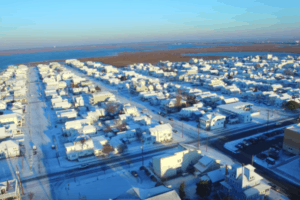 Wildwood Snow Drone Footage