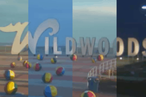Wildwood Sign Time Lapse