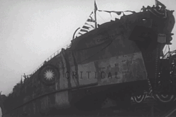 Launching of A Concrete Ship