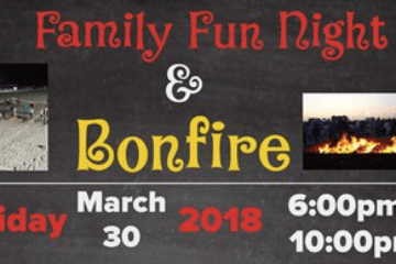 Family Fun Night And Bonfire This March