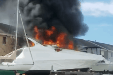Update on Boat Fire In Wildwood