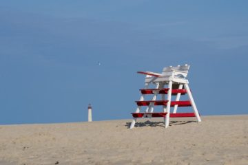 Cape May LifeGuard Stand Struck By Lightning