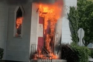 Watch Fireman Battle Church Fire In Cape May