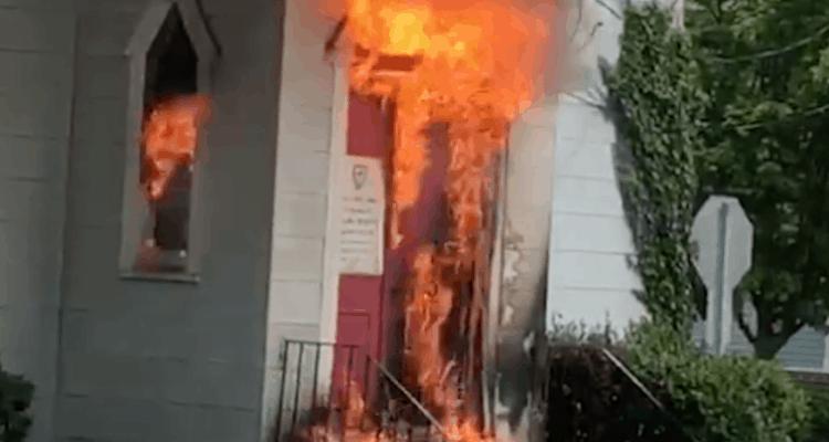 Watch Fireman Battle Church Fire In Cape May