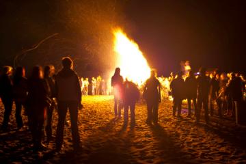 North Wildwood Bonfire on the Beach