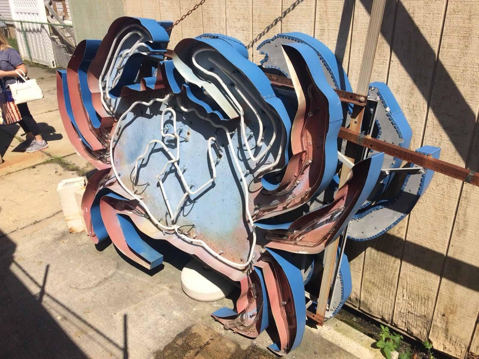 Wildwood Neon Crab Sign Found on Ebay