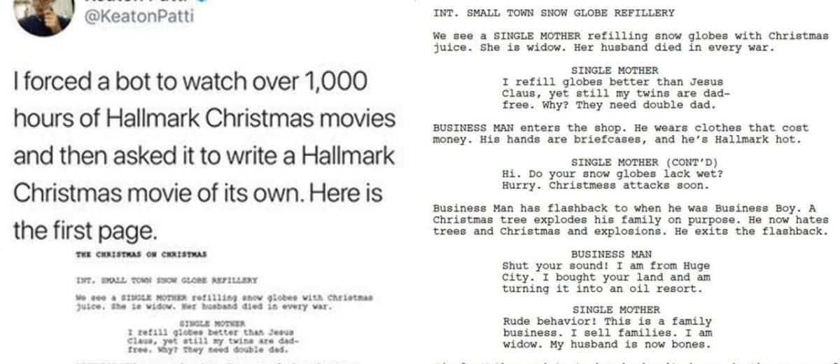 Someone Made a Bot Watch 1,000 Hours of Hallmark Christmas Movies
