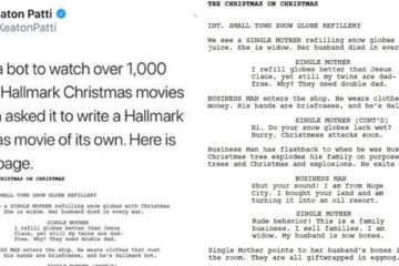 Someone Made a Bot Watch 1,000 Hours of Hallmark Christmas Movies and Write an Epic Script