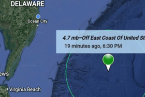 Earth Quake Felt In Cape May County