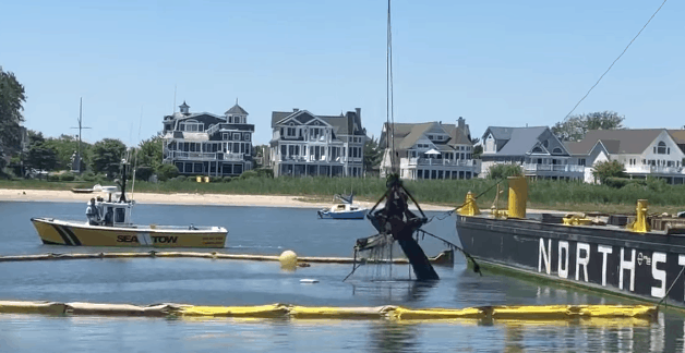 Boat Raised In Cape May