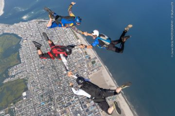 Jumping Out Of A Plane Over Wildwood