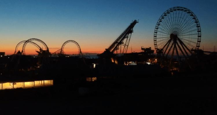 Sunrise Over The Wildwood Boardwalk