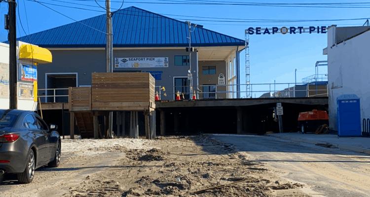 22nd St Boardwalk Construction