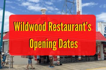Wildwood Restaurant's Opening Dates