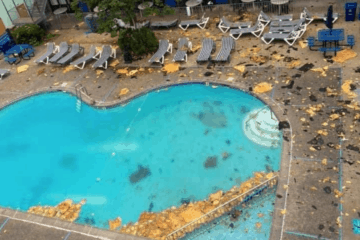 The Brittany Motel's Roof Blown Off (Photos)