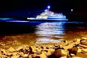 Cape May Ferry Got Stuck In The Canal Last Night