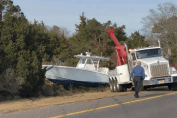 Boat Accident Removed Safely From Garden State Parkway