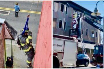 N. Wildwood Fire Practice On 2nd St. Annies
