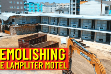 Demolishing The Lampliter Motel - Wildwood Crest
