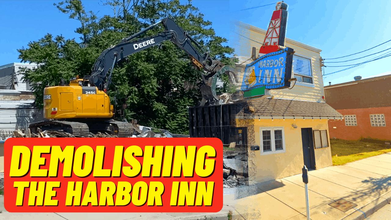 Demolishing The Harbor Inn Bar - Wildwood, NJ