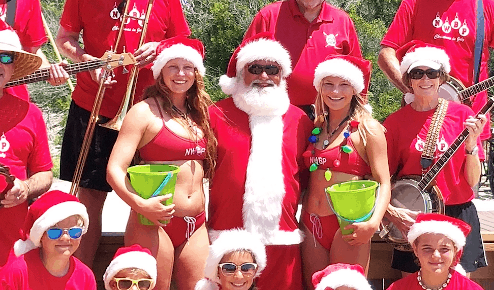 Santa Will Be On The North Wildwood Beach Today!