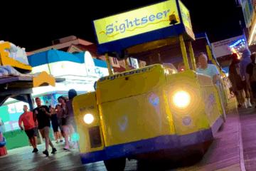Riding The Wildwood Tramcar At Night - 2021
