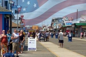 Wildwood On The National Anthem Playing On The Boardwalk