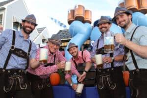 Morey's Piers Ceremonial Keg-Tapping At Oktoberfest