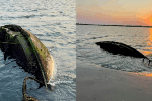 Mysterious Sunken Boat Washes Up In Stone Harbor