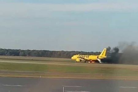 Plane's Engine Catches Fire at AC Airport